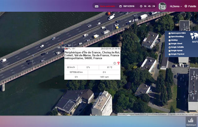 Géolocalisation véhicule en temps réel