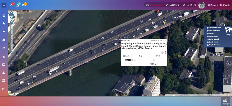 Geolocalisation des véhicules en temps réel